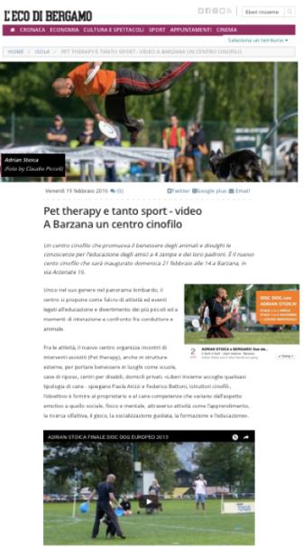 Adrian on italian newspaper