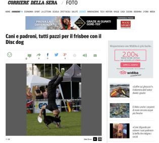 Adrian and Rory on Corriere Della Sera