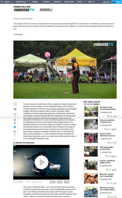 Corriere della Sera, 16 settembre 2016, Adrian e Rory