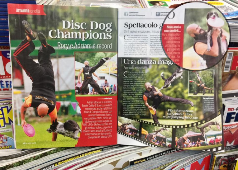 Adrian and Rory on Italian Magazine (Il Mio Cane)
