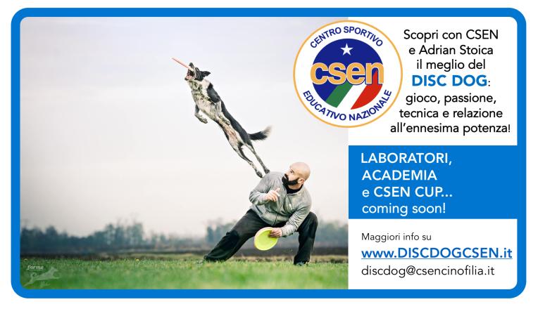 Adrian Responsabile Nazionale DISC DOG per CSEN